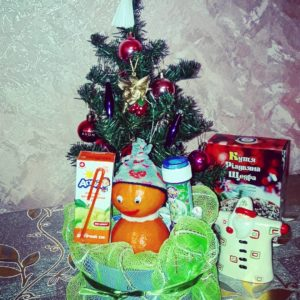 Новогодний детский букет «Снеговичок»