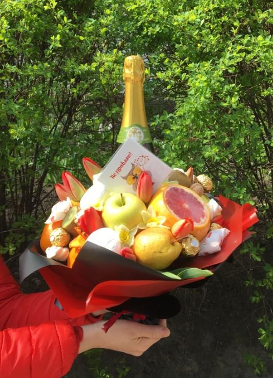 """фрукто-алкогольный букет """"Душевный"""""""