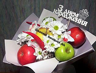 букет из яблок