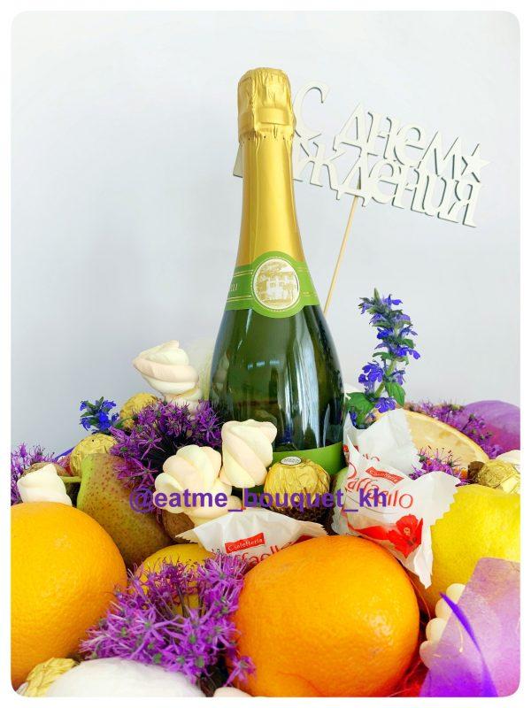 Букет с фруктами и шампанским в Харькове