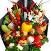 Букет с коньяком и овощами