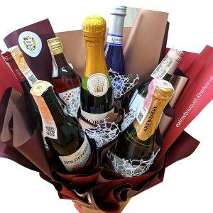 Букет из шампанского и вина