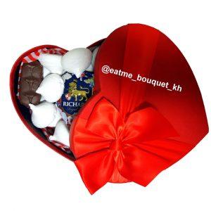Подарочный набор сладостей «Горячее сердце»