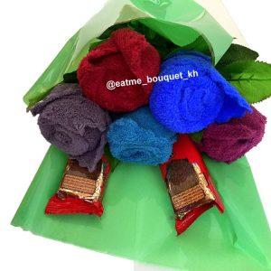 Розы из полотенец