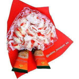 Букет-комплимент с конфетами Raffaello