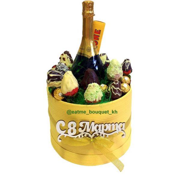 клубника с шампанским