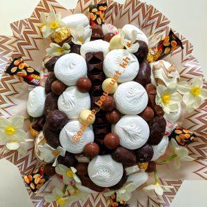 Букет с зефиром и шоколадом