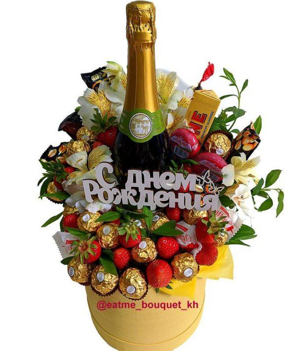Сладкий букет с шампанским в Харькове
