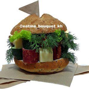 Мужской букет «Гамбургер»