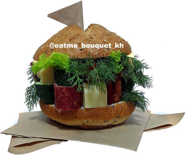 Букет в виде гамбургера