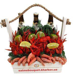 Подарочный набор с раками и лангустинами