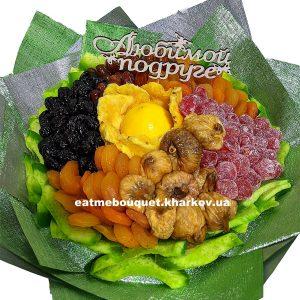 Букет-цветок из сухофруктов