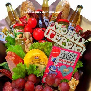 Букет с фруктами и пивом